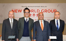 New World Group organizes a press conference to announce its FY2016 interim results