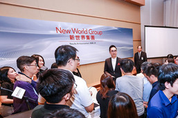 New World Group organizes a press conference to announce its FY2018 annual results