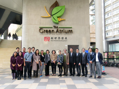 Government Officials Visit The Green Atrium to See New World Development's Vision of Green Building and Sustainability